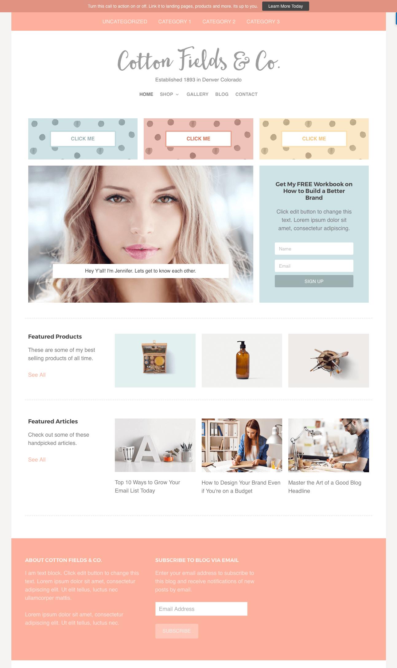 Homepage sample 3